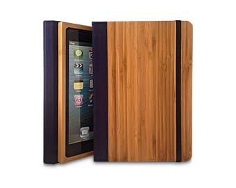 Bamboo iPad Air 2 Bookcase, Wood iPad Air 2 Case, Wood iPad 5 Bookcase - Primovisto