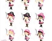 Pirate Girls 2 Clip Art Set