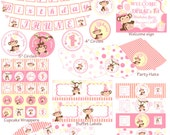 Baby Girl Monkey Party Printables