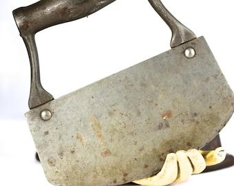 Antique Handmade Primitive Cast Steel Kitchen Food Chopper