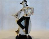 Mid Century Vase Planter Fine Porcelain Modern Girl Posing