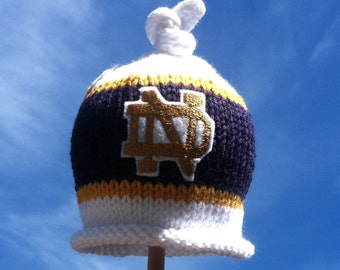 Notre Dame Baby Hat, Newborn Photo Prop, Baby Notre Dame Hat, Notre Dame Baby, Baby Boy Knit Hat, Baby Boy, Notre Dame Beanie, Baby Girl Hat