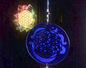 Flower of Life with Om on the back RainbowLightcaster