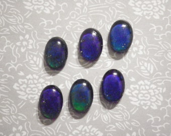 6 Glass 18x13mm Real Vintage Working Moodstones