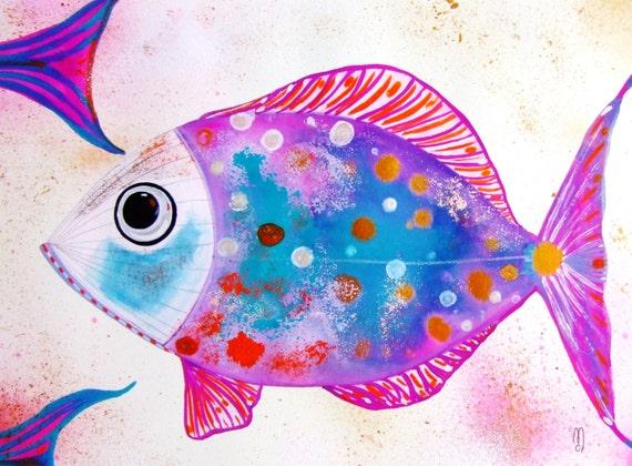 Articles similaires poisson peinture originale nature for Paillette poisson