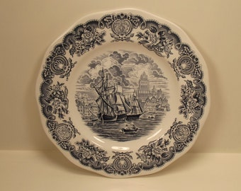Historical Ports of England Port of Bristol ANTIQUE Collectors DINNER PLATE