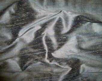 KOPLAVITCH RAMPUR 3 Ply Raw Silk Fabric 10 yards Blue Gold Beige