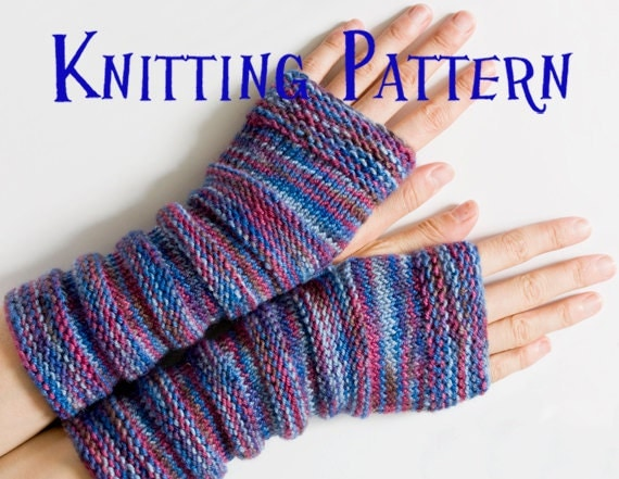 Knit Arm Warmer Pattern : PDF Knitting Pattern Arm Warmers Wrist Warmers Sleeves