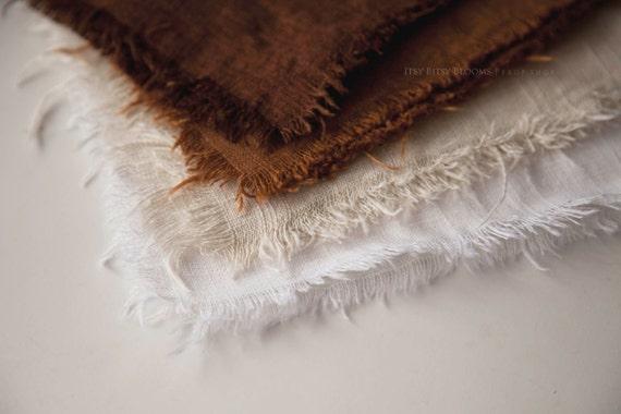 Newborn Layer, Newborn Photo Prop, Linen Layering Fabric, Newborn Layering Fabric, Shabby Linen Layer, RTS