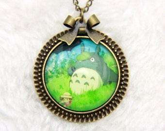 Necklace watch totoro green 2525c