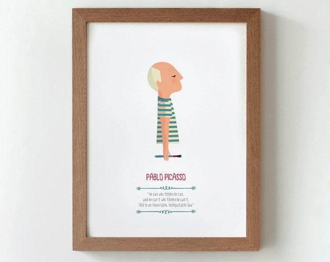 """Ilustración """"Pablo Picasso""""."""