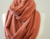 LIX PERLE:  Cher Dots Infinity Scarf, Cotton, Dressy, Circular loop tube versatile unisex scarf