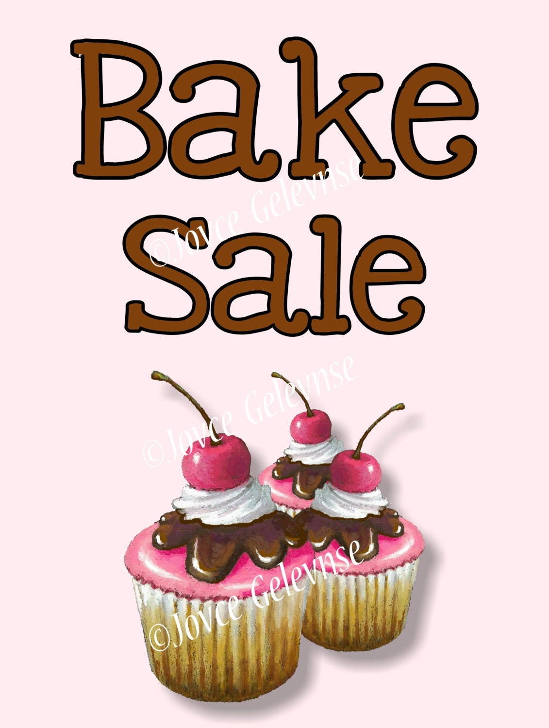 It is an image of Playful Free Printable Bake Sale Signs