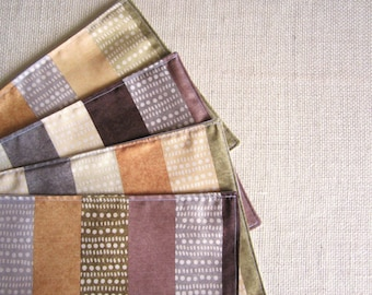 Batik Outdoor Placemats, Earthy Shanti Stripe Placemats, Mini Table Placemats/ Perfect for Small Spaces