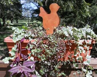 Chick Rustic Tin Cut Out Yard Garden Art Napkin Holder Crafts Centerpiece Home Decor