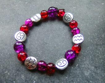 Zodiac Bracelet Aquarius, Cancer and Gemini