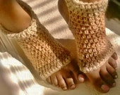 Shades of Tan Crochet Yoga Socks