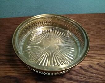 Brass & Glass Dish