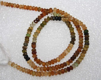 Natural AAA Quality Petro Tourmaline 3mm Machine Cut Rondell Gemstone Beads 13 Inches BA138