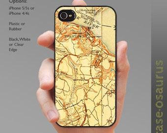 Vintage Yorktown Map iPhone Case for iPhone 6, iPhone 5/5s, or iPhone 4/4s, Samsung Galaxy S5, Galaxy S4, Galaxy S3