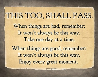 This too, Shall Pass postcard print