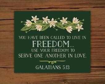 Galatians 5:13 Print