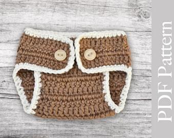 Crochet Diaper Cover Basic Size Newborn PDF Pattern