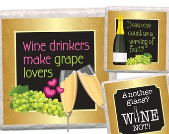 Wine - 4x4 inch square, Printable Digital Collage Sheet, instant download used to make coasters, tiles, magnets, cards, decoupage