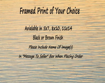 Ready to Hang Matted and Framed Print of your Choice