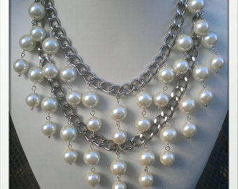 Inspired By The 2 Broke Girls Necklace in Silver