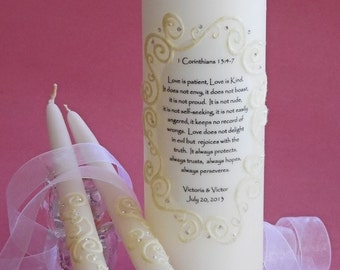 Wedding Oval Lace Unity Candles