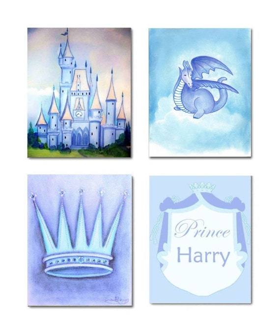 Prince Crown Wall Decoration : Prince boy nursery kids wall art crown decor by