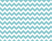 Small Chevron Aqua: Riley Blake Designs - 1 Yard Cut
