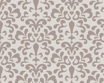 Ashbury Damask Gray 1 Yard Cut