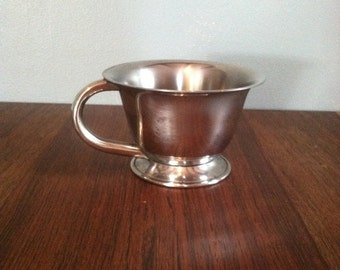 Vintage Silver Cup with Handle and Pedestal