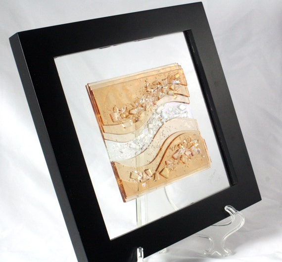 Fused Glass Wall Art: Fused Glass Wall Art Champagne Waves By JMFusions On Etsy