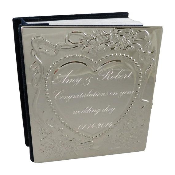 Personalised Wedding Photo Albums: Wedding Photo Album Personalized Wedding Gift Anniversary