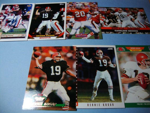 SALE - Vintage Lot of Bernie Kosar Football Cards - Cleveland Browns - NFL - University of Miami