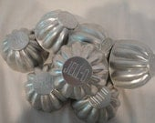 Aluminum JELLO Molds Vintage   Metal Scalloped Individual  Jello Molds
