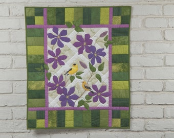 "Goldfinch Wall Quilt ""American Goldfinches"" Pattern"