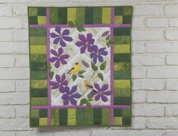 """Goldfinch Wall Quilt """"American Goldfinches"""" Pattern"""