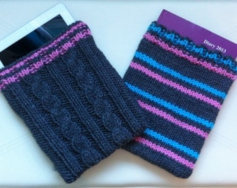 iPad or book cosy. -  Cables or Stripes