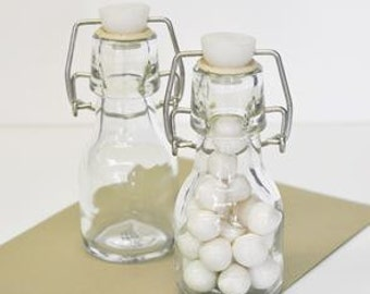 DIY Empty Mini Glass Bottles - Old Fashion / Vintage Milk Bottles for Party Favors