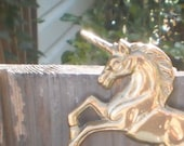 Unicorn Solid Brass Key Hooks