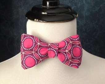 Bow Tie Adjustable in Opal Fuchsia