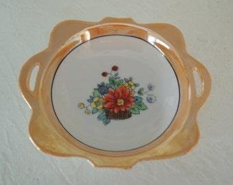 Lusterware Dish, Small lustreware, Teabag dish, Beautiful condition, Vintage