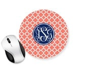 Personalised Circle Mouse Pad - Mouse Mat Desk - Clover P05