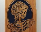 Skeleton Goddess Designed Natural Wood Full Wrap iPhone 4, iPhone 4s and iPhone 5 Cases