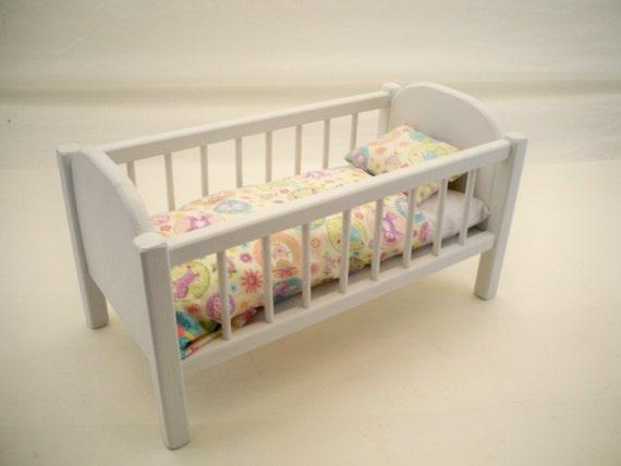 Wood Doll BedBaby Doll Crib 18 inch Doll Crib Doll