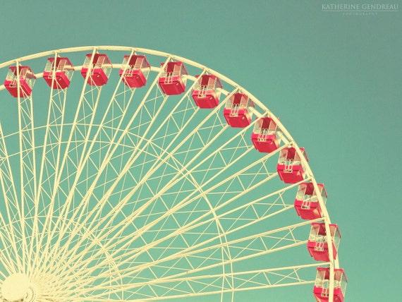 Items similar to Vintage Ferris Wheel Giclee Photo Print ...